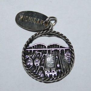 Vintage sterling silver SOO LOCKS MI pendant charm